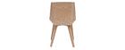 Design-Stuhl weiß und helles Holz MELKIOR