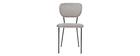 Design-Stühle aus grauem Stoff und schwarzem Metallgestell - 2er-Satz LEPIDUS