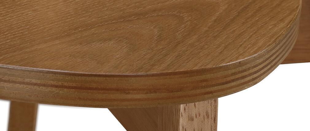 Design-Stühle Eiche LEENA (2er-Set)
