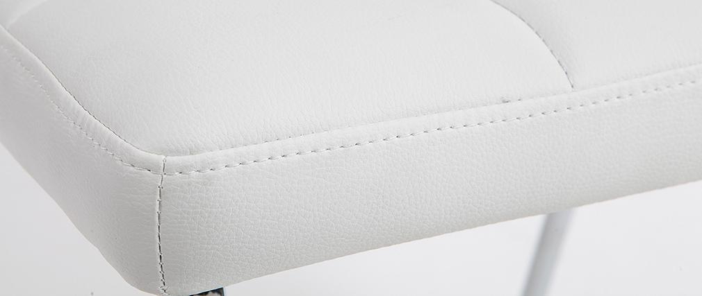 Design-Stühle geopolstert Weiß 2er-Set POLLY
