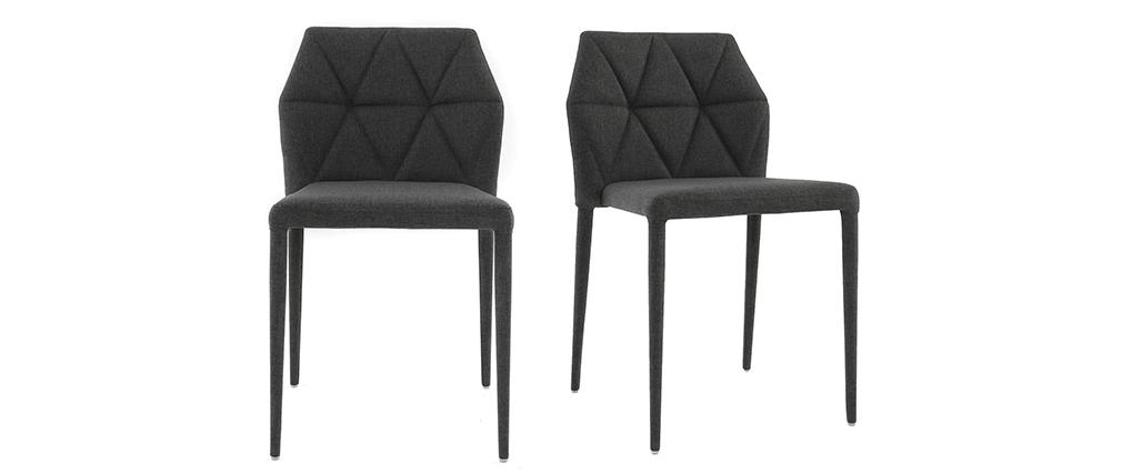 Design-Stühle Grau 2er-Set KARLA