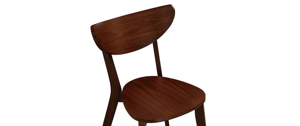 Design-Stühle Nussbaum LEENA (2er-Set)