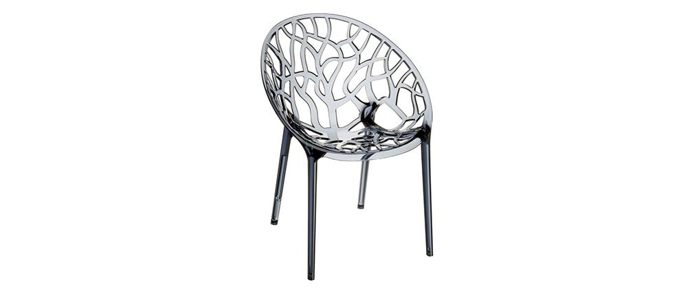 Design-Stühle Rauchgrau 4er-Set ARBOL