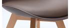 Design-Stühle Schokoladenbraun 4er-Set PAULINE