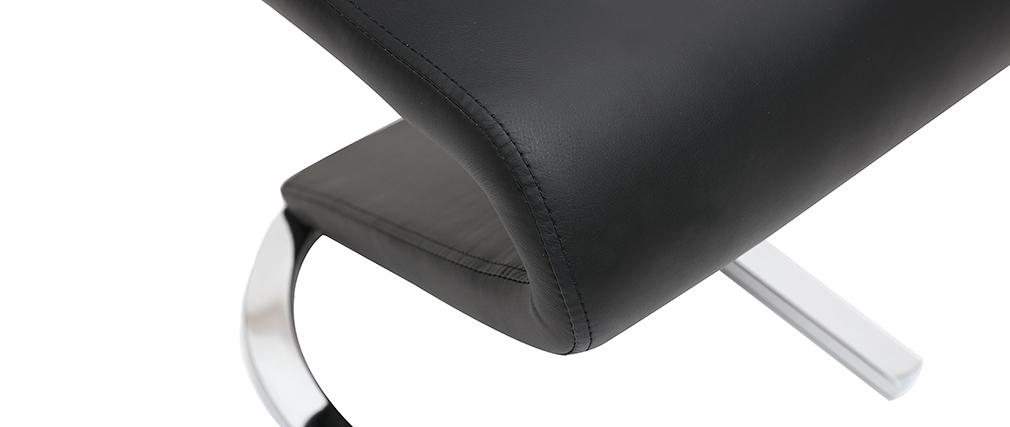 Design-Stühle schwarz (2er-Set) ANGY