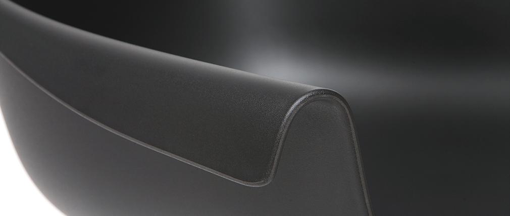Design-Stühle Schwarz mit Metallbeinen (2er-Satz) COUTURE
