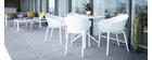 Design-Stühle Schwarz stapelbar Indoor/Outdoor (4-er Satz) OSKOL