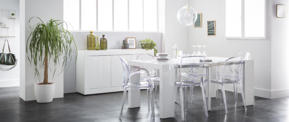 Design-Stühle Transparent 2er-Set ISLAND