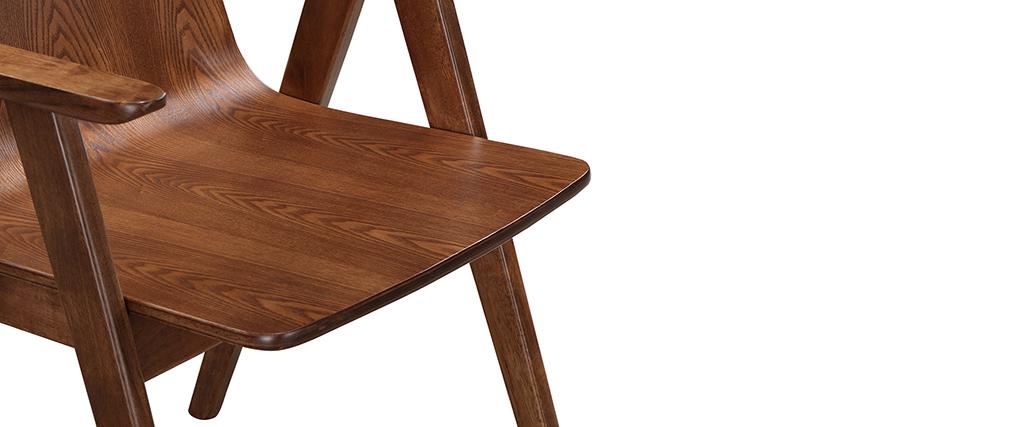 design st hle vintage look nussbaum 2er set dana miliboo. Black Bedroom Furniture Sets. Home Design Ideas