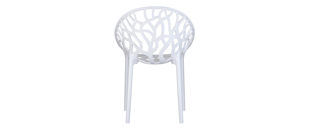 Design-Stühle Weiß 4er-Set ARBOL