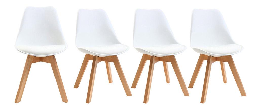 Design-Stühle Weiß 4er-Set PAULINE