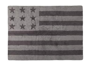 Design-Teppich Baumwolle 120 x 160 cm Grau USA