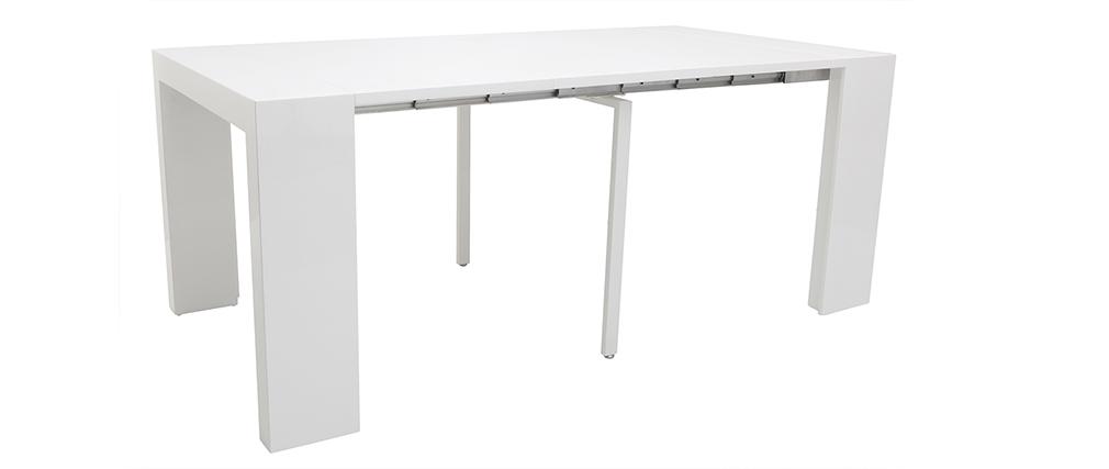Design-Tisch ausziehbar weiß glänzen CALEB
