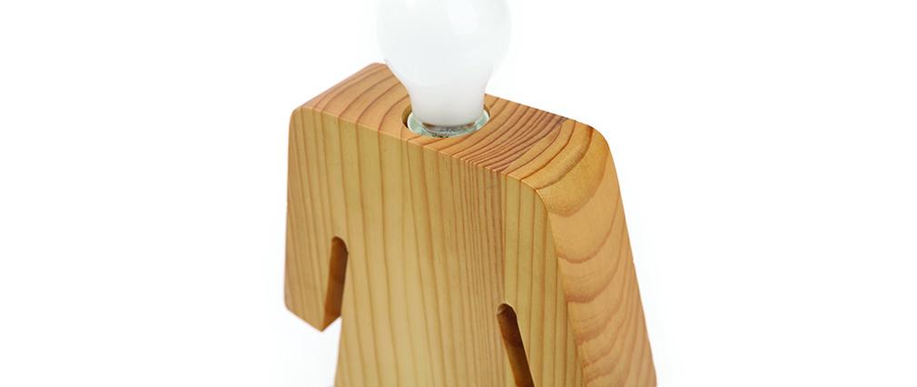design tischlampe aus holz lady miliboo. Black Bedroom Furniture Sets. Home Design Ideas