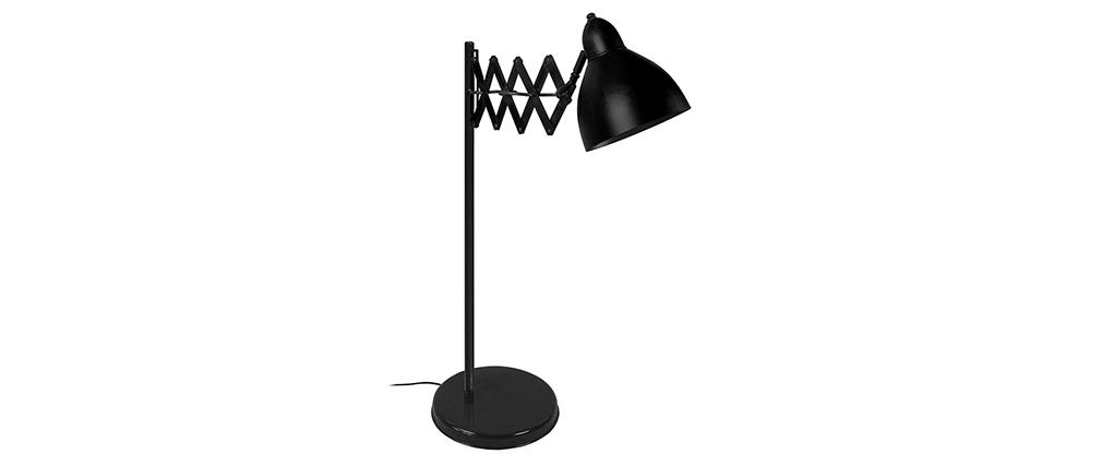 Design-Tischlampe ausziehbar Stahl Schwarz HARMONICA