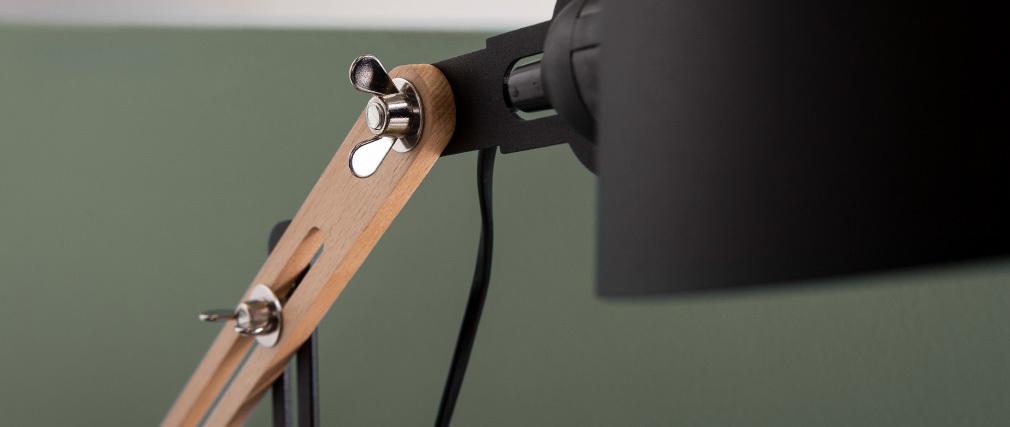 Design-Tischlampe BILLY aus schwarzem Metall