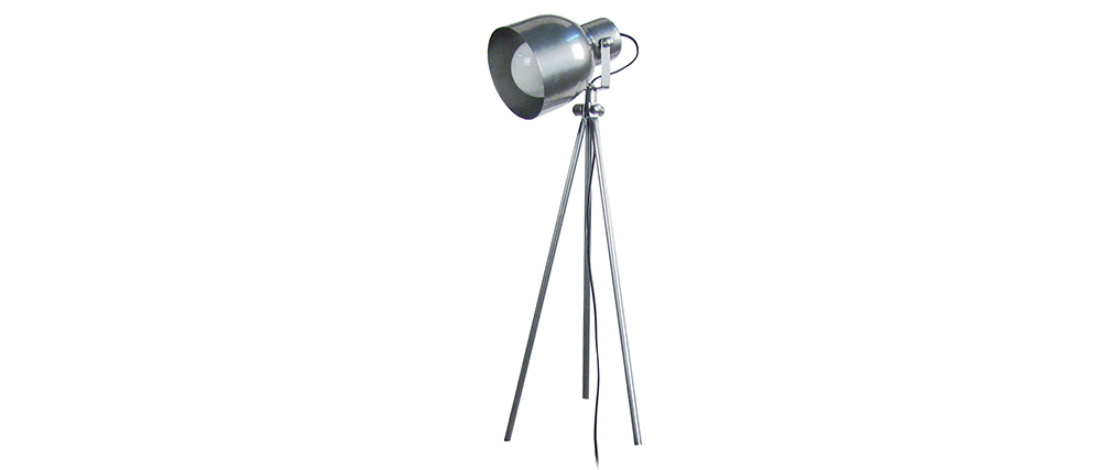 Design-Tischlampe Dreifuß Stahl Chrom CITY