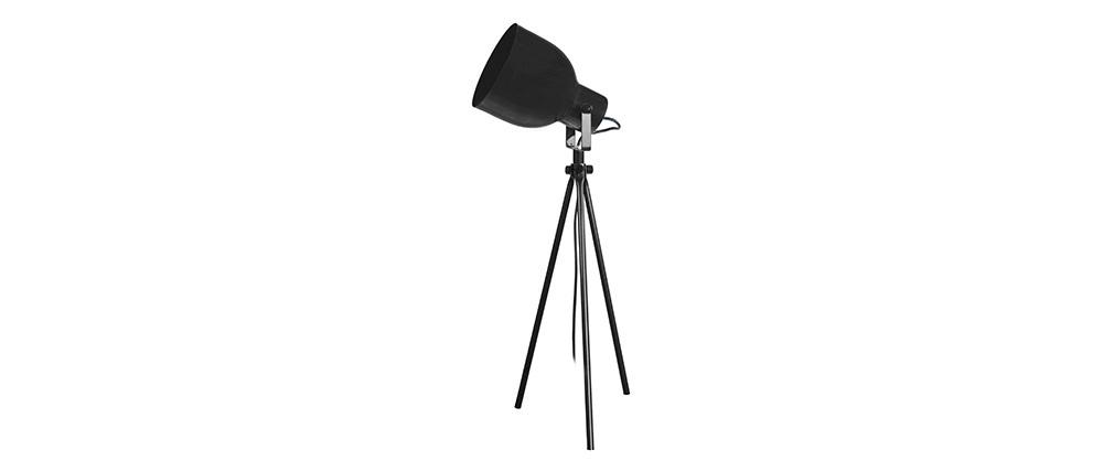 Design-Tischlampe Dreifuß Stahl Schwarz CITY