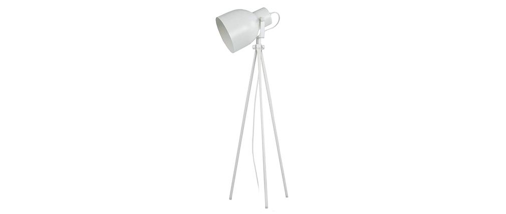 Design-Tischlampe Dreifuß Stahl Weiß CITY