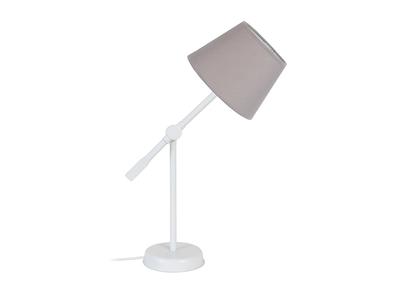 Design-Tischlampe Gelenk Stahl Taupe LUCIO