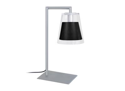 Design-Tischlampe Glas und Metall Schwarz ACROSS