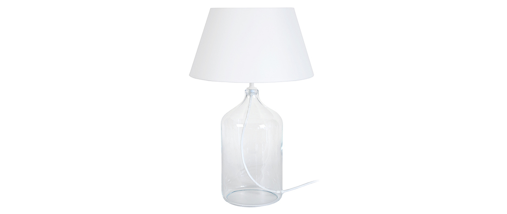 Design-Tischlampe Glas und Weiß TRAVEL