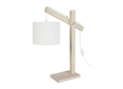 Design-Tischlampe Holz Naturfarben GOTAN