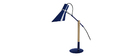 Design-Tischlampe Holz und Stahl Blau SOUND