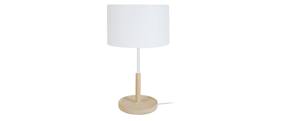Design-Tischlampe Holz Weiß ELIOT
