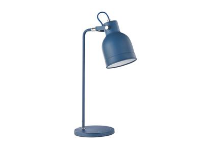 Design-Tischlampe Metall Blau PHOENIX
