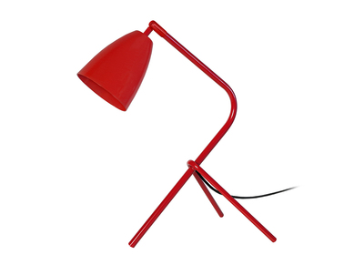 Design-Tischlampe Metall Rot FRIDAY