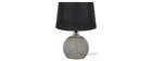 Design-Tischlampe Rauchglas Schwarz SECRET