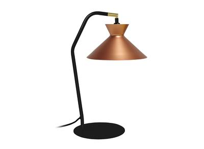 Design-Tischlampe Stahl Kupfer LEEDS