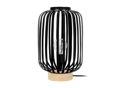 Design-Tischlampe Stahl Schwarz ALVEOL