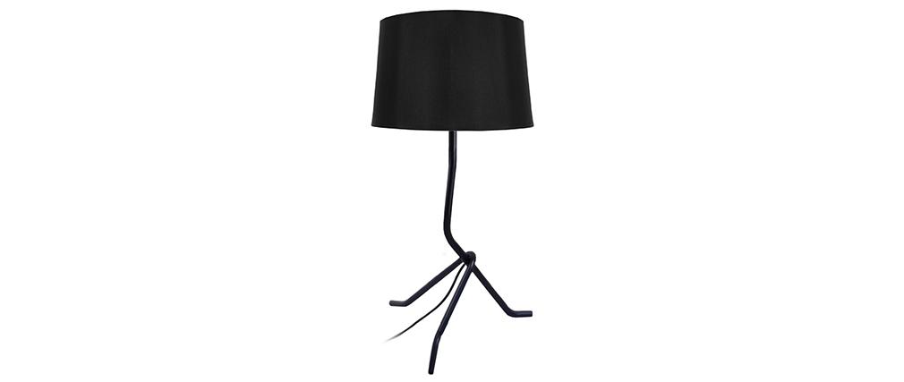 Design-Tischlampe Stahl Schwarz DANDY