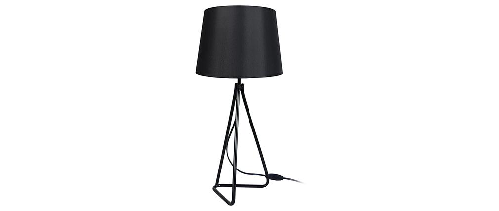 Design-Tischlampe Stahl Schwarz LADY