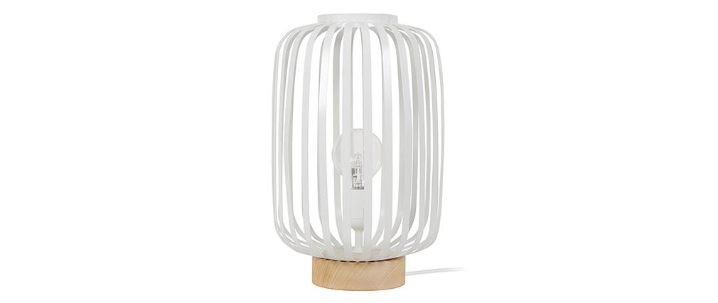 Design-Tischlampe Stahl Weiß ALVEOL