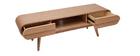 Design-TV-Möbel 2 Schubladen Esche naturell - BALTIK