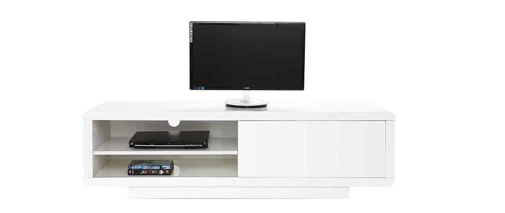 design tv m bel becket wei miliboo. Black Bedroom Furniture Sets. Home Design Ideas