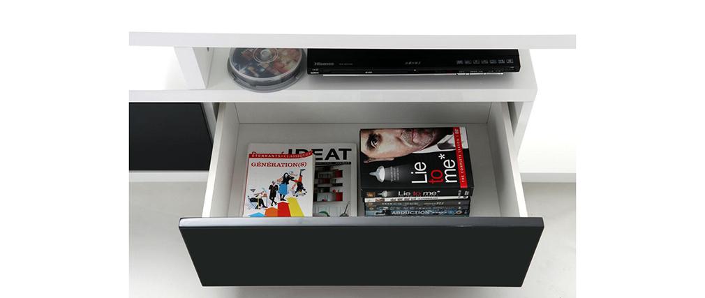 Design-TV-Möbel DAVY Schwarz und Weiß