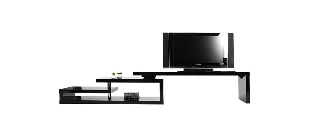 Design-TV-Möbel drehbar MAX V2 Schwarz