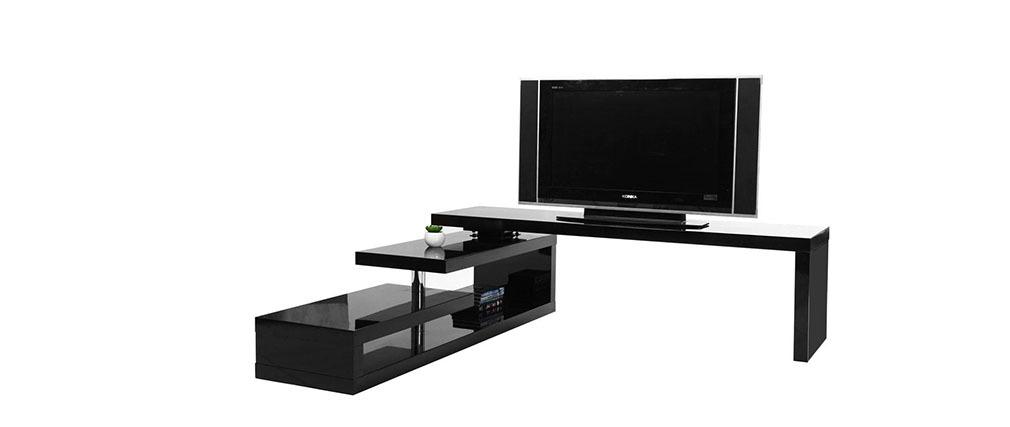Design tv möbel  Design-TV-Möbel drehbar MAX V2 Schwarz - Miliboo