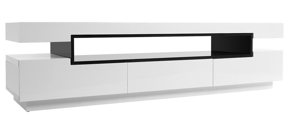Design-TV-Möbel lackiert Weiß glänzend LIVO