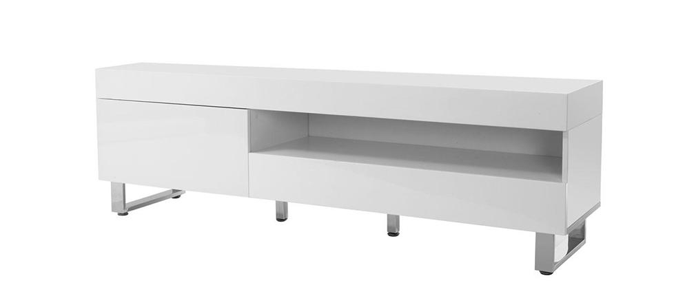 Design-TV-Möbel lackiert weiß MELHA