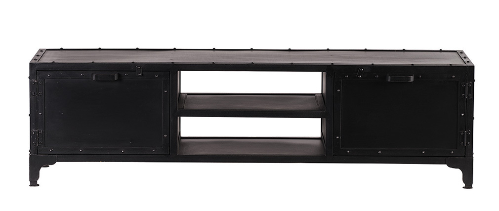 Design-TV-Möbel Metall Schwarz 150 cm FACTORY