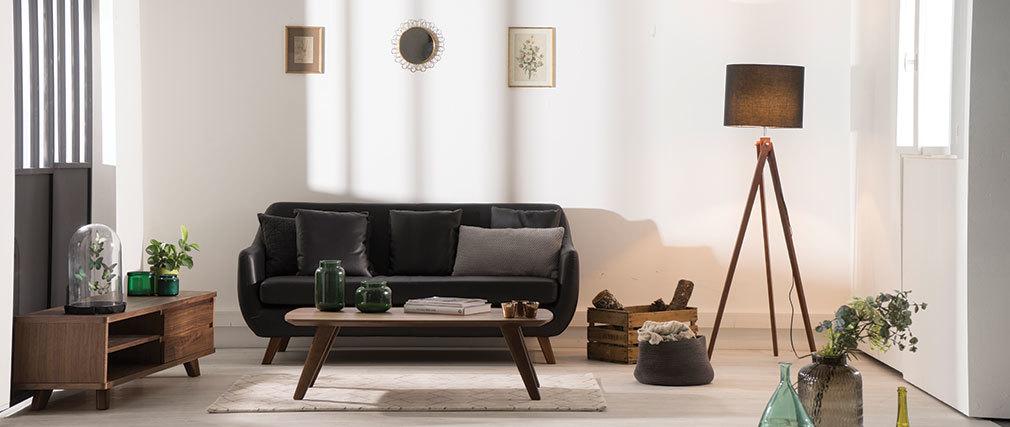 Design-TV-Möbel Nussbaum FIFTIES