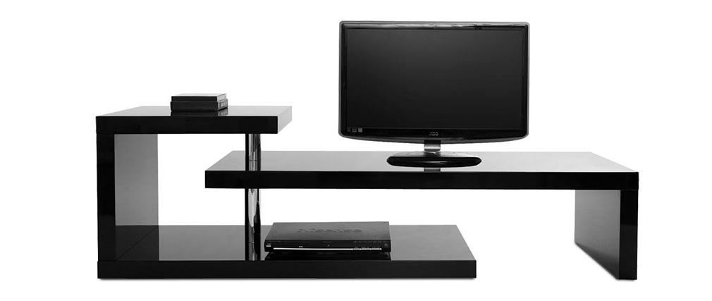 Design-TV-Möbel TURN Schwarz