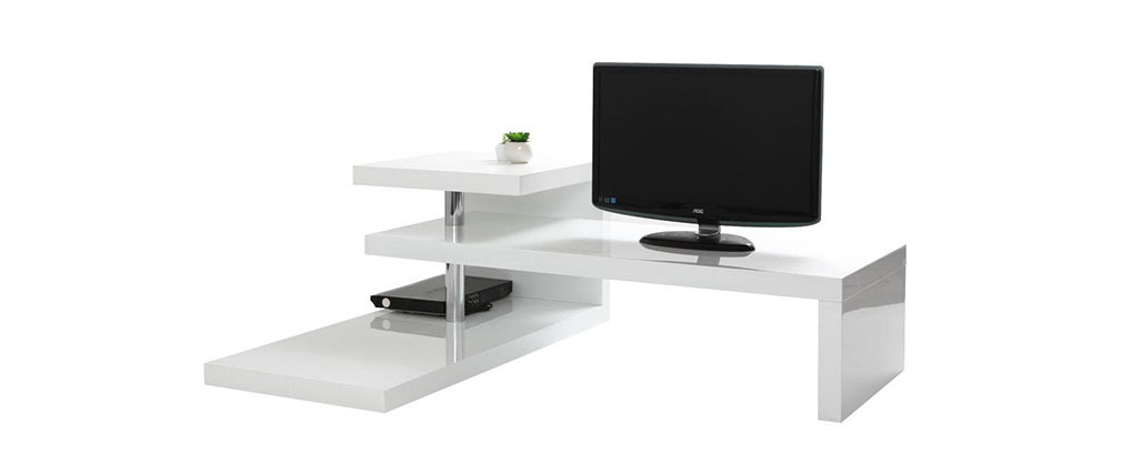 Design-TV-Möbel TURN Weiß
