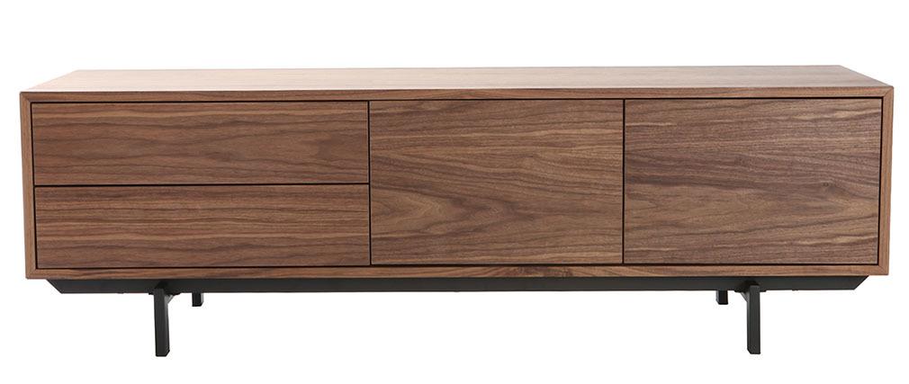 Design-TV-Möbel Vintage geschlossen Nussbaum MANNY