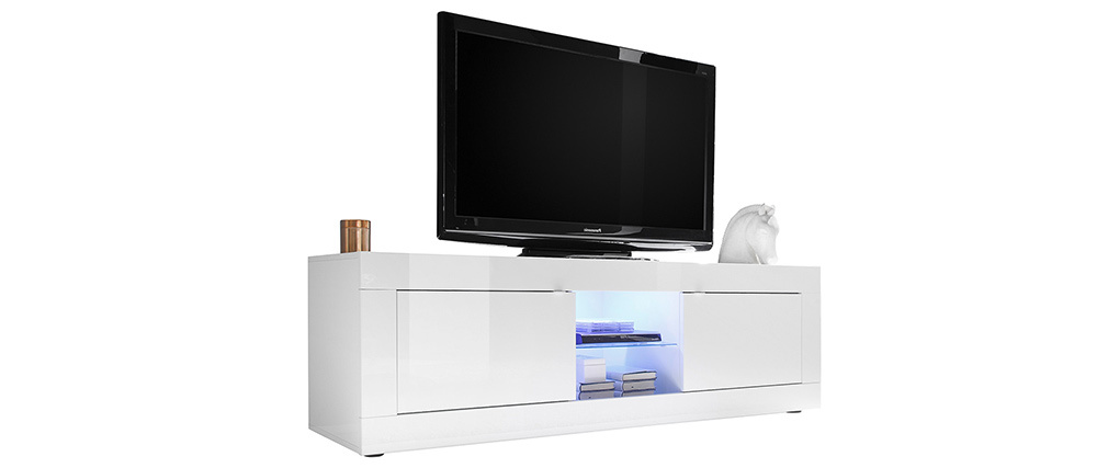 Design-TV-Möbel Weiß Lackiert 180 cm LATTE